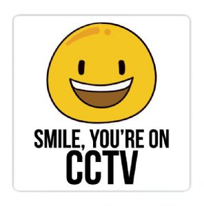 Smile You're On CCTV Vinyl Sticker For Car Home Van Vehicle Taxi